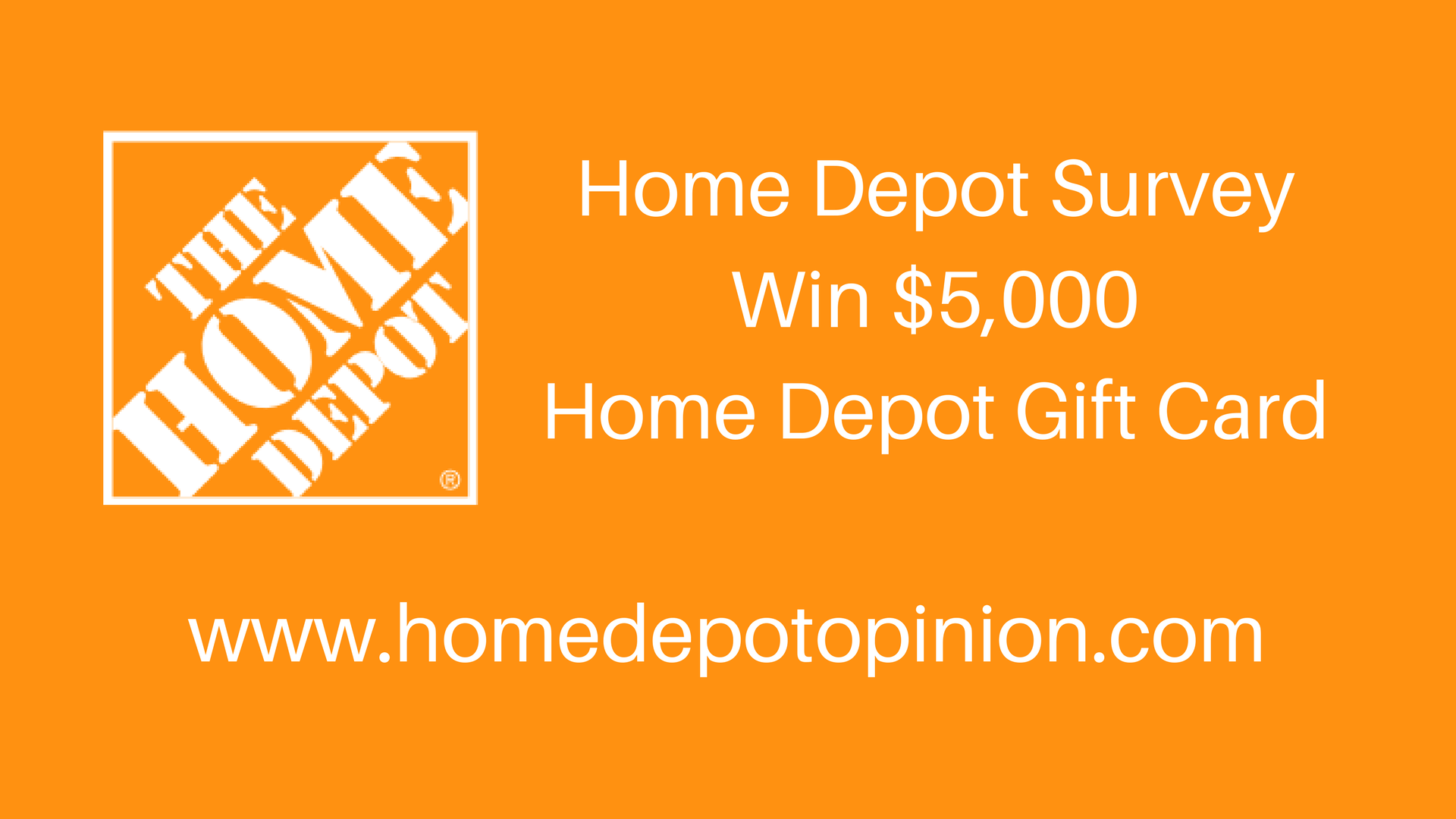 HomeDepot.com Customer Satisfaction Survey